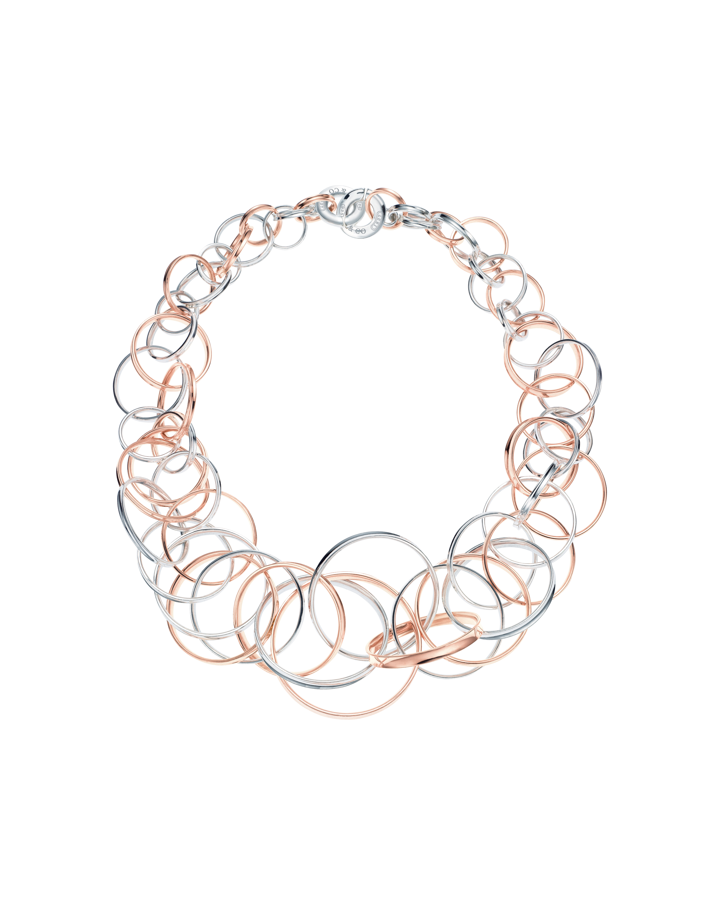 Tiffany 1837 Interlocking Circles Necklace in RUBEDO Metal and Silver