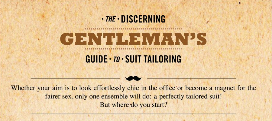 [Infographic] The Gentleman's Guide to Suit Tailoring