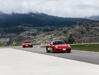 Driving A Porsche 911 Carrera 4S Around Jacque Villeneuve's Area 27 Racetrack